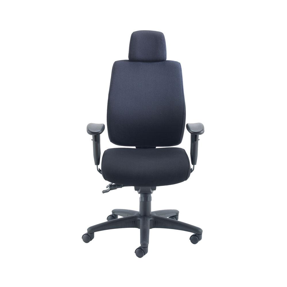Avior Elbrus Black High Back Operators Office Chair