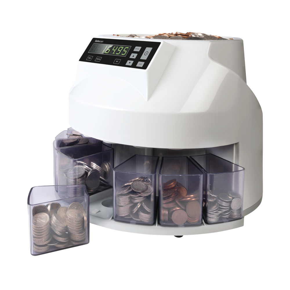 Safescan Mixed Coin Counter and Sorter Sterling Grey 113-0568