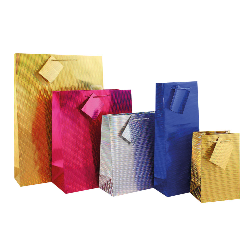 Extra Large Holographic Gift Bags, Pack of 12 - FUNK1.