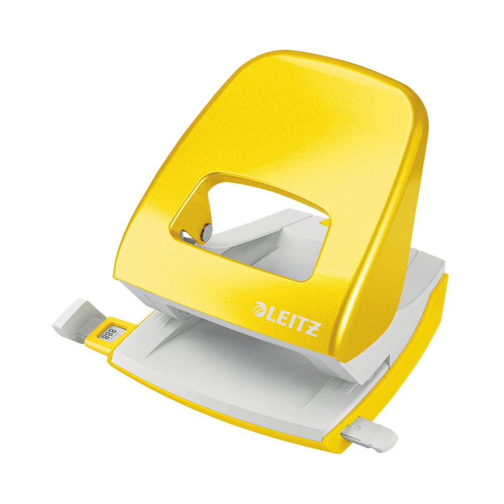 Leitz NeXXt WOW Metal Office Hole Punch 30 sheets Yellow 50081016