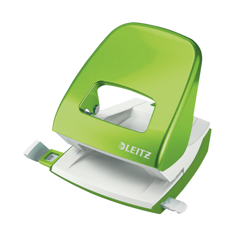 Leitz NeXXt WOW Metal Office Hole Punch 30 sheets Green 50081054