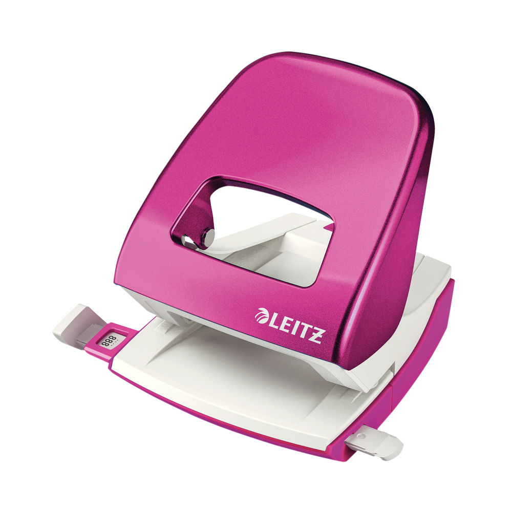 Leitz NeXXt WOW Metal Office Hole Punch Metallic Pink 50081023