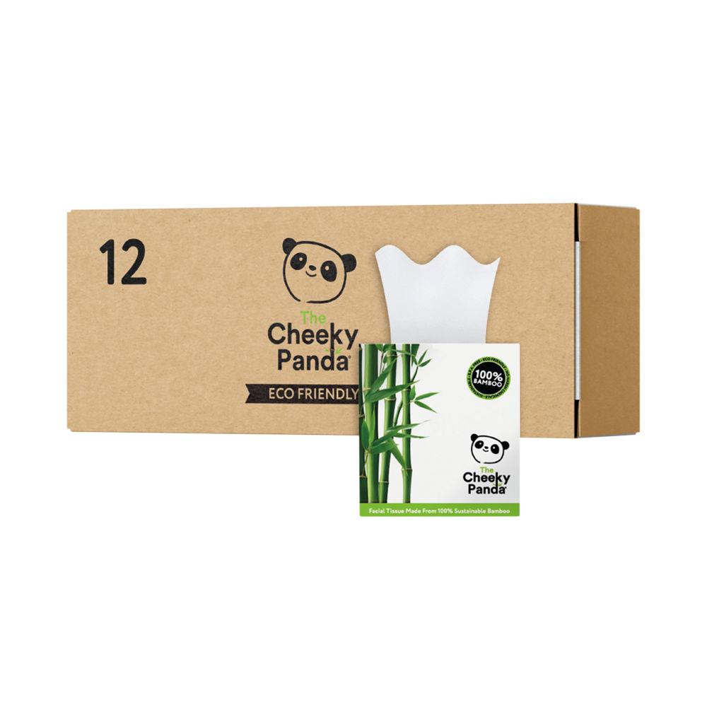 Cheeky Panda Facial Tissues Cube 56 Sheets (Pack of 12) 1103040