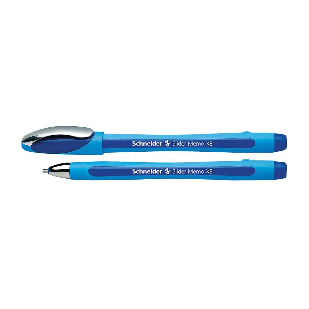 Schneider Blue Slider Memo XB Ballpoint Pens, Pack of 10 - 150203