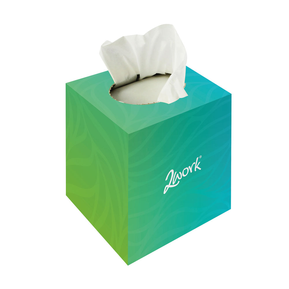 2Work Facial Tissues White 70 Sheet (Pack of 24) - FTW070