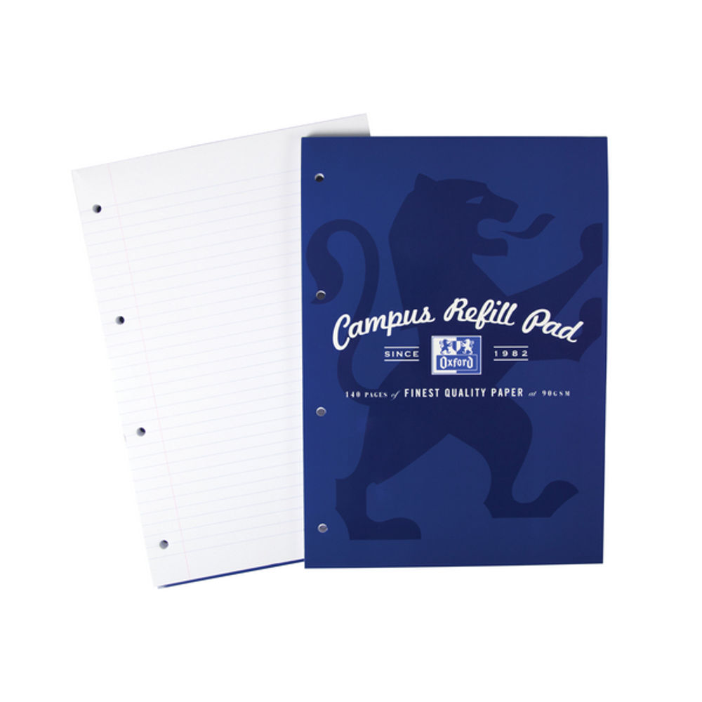Oxford Campus Navy A4 Refill Pad - 400066642