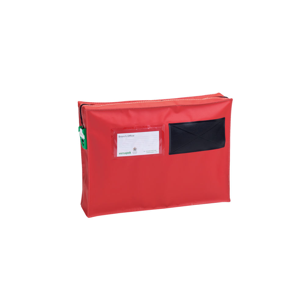 Versapak Red Small Mail Pouch With Gussett - ZG1_T2SEAL