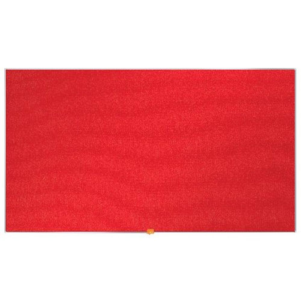 Nobo Red 55 Inch Widescreen Felt Noticeboard - 1905312