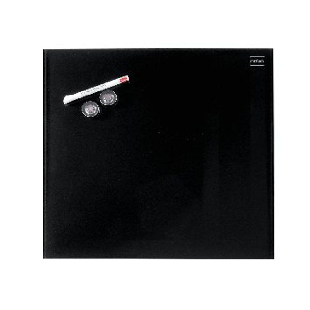 Nobo Black 300x300mm Diamond Glass Magnetic Whiteboard - 1903950
