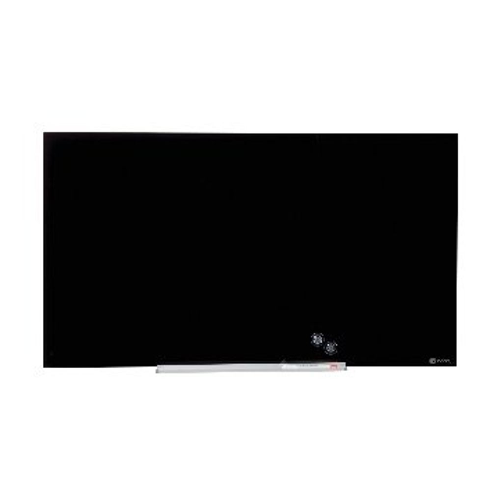 Nobo Black 45 Inch Widescreen Glass Whiteboard - 905180