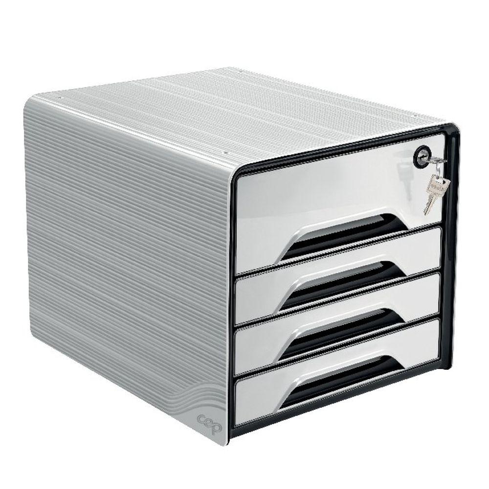 CEP White Secure 4 Drawer Set  - 7-311S White
