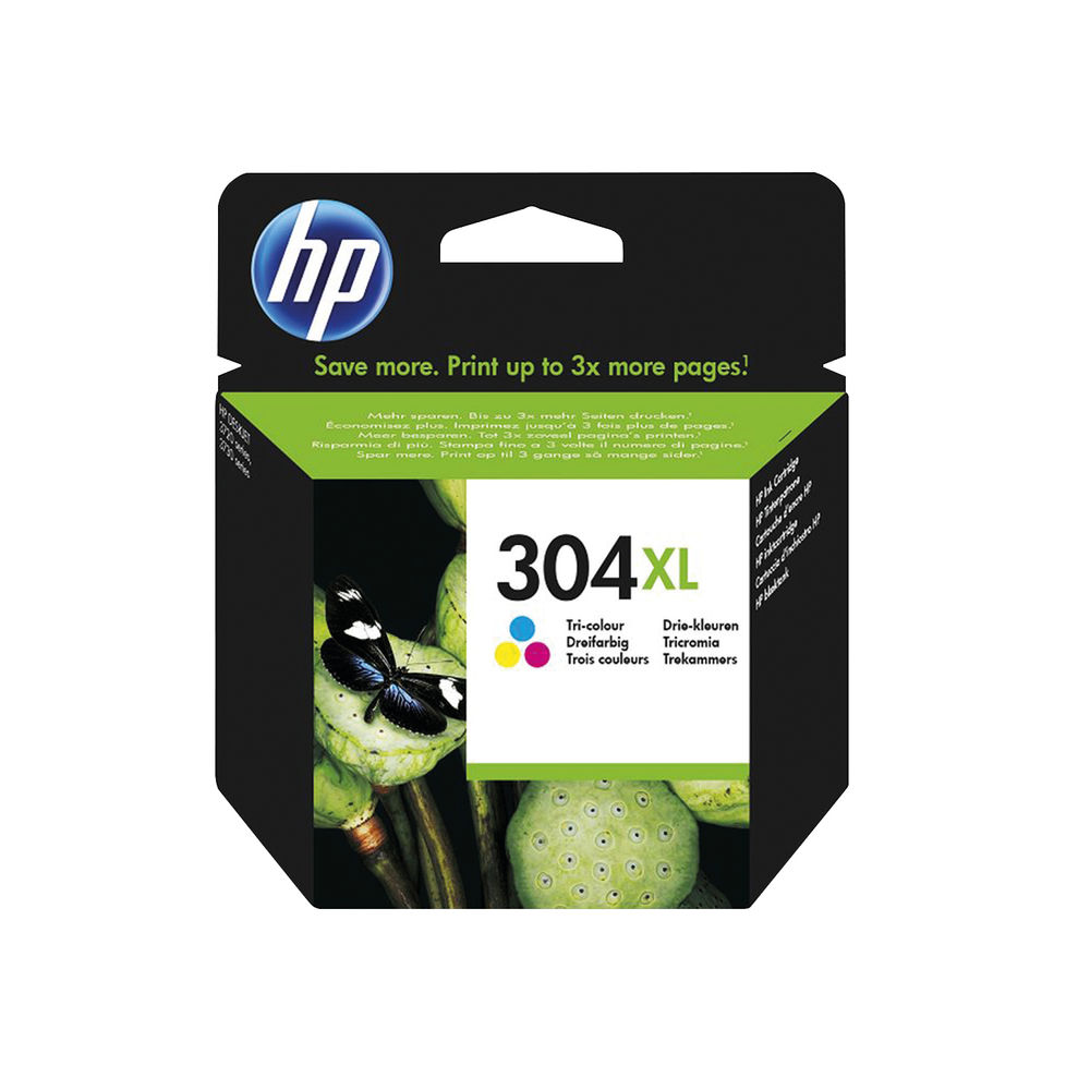 HP 304XL Tri Colour Ink Cartridge N9K07AE