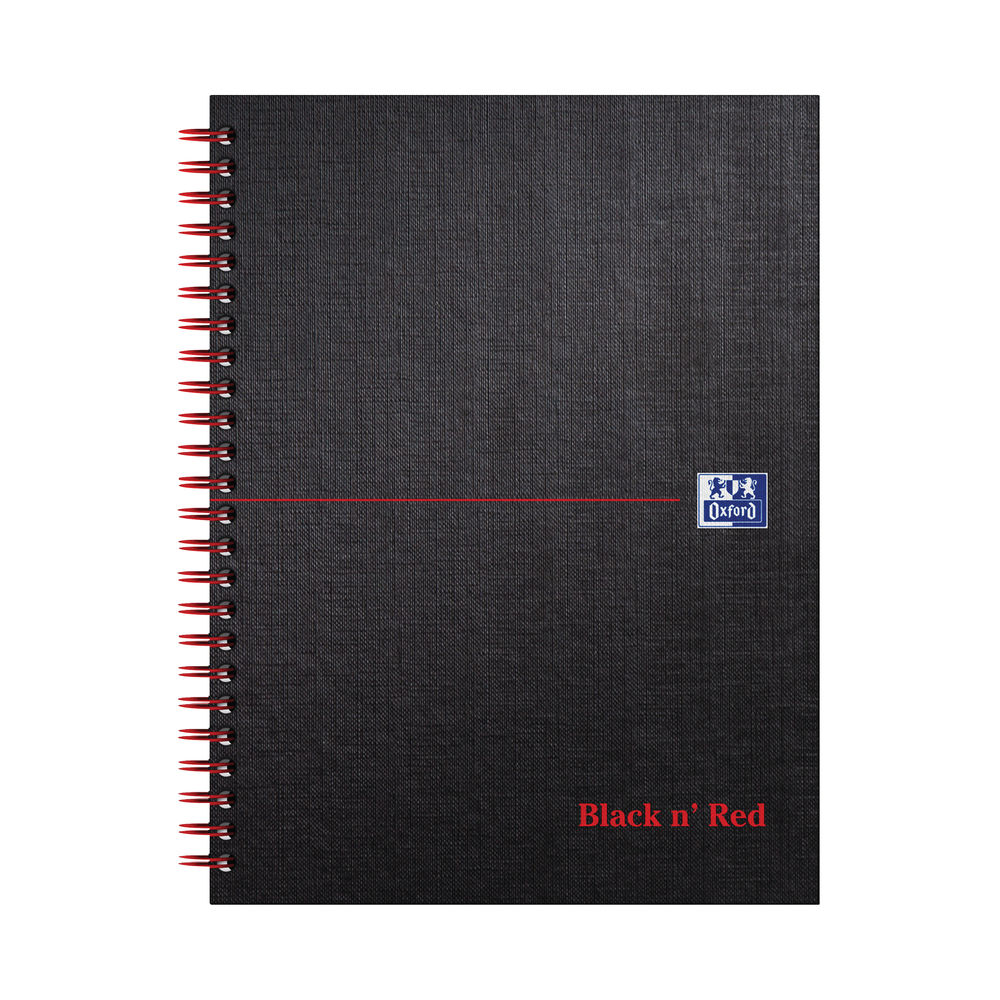 Black n Red Smart Ruled Wirebound Hardback Notebook 140 Pages A5+ (Pack of 5) 846354904
