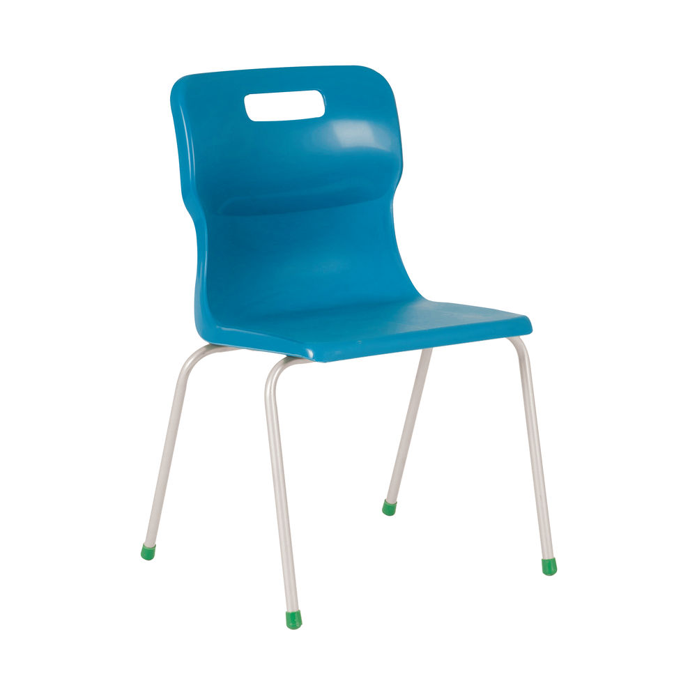 Titan 460mm Blue 4-Leg Chair – T16