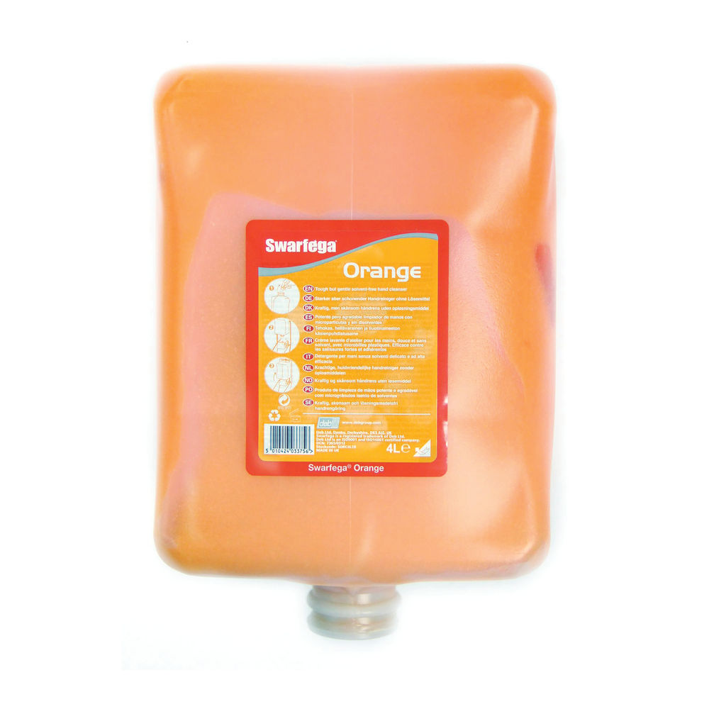 Swarfega Heavy Duty Hand Cleanser Orange 4L (Pack of 4) SOR4LC_BO