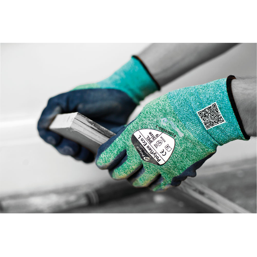 Polyflex Eco Latex Palm Coated Size 9 Gloves (Pack of 10) PEL