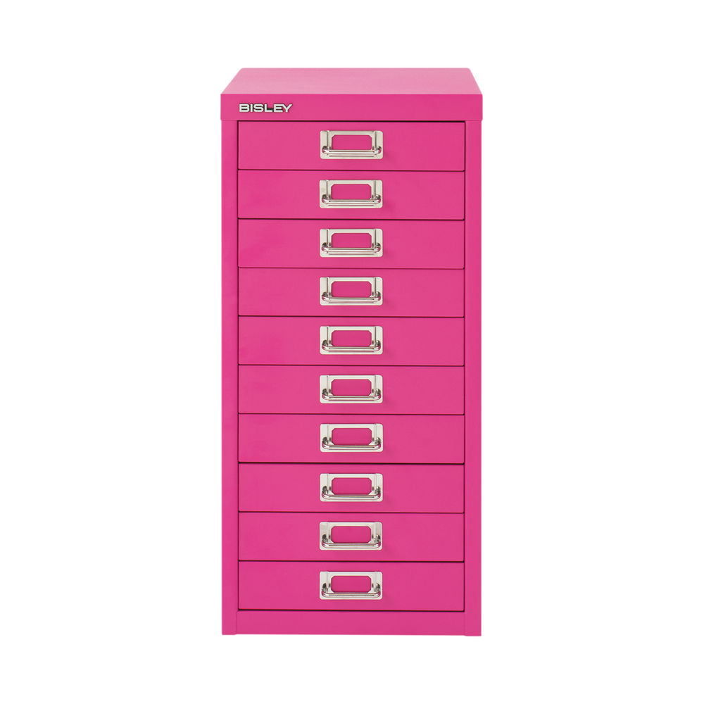 Bisley 590mm Fuschia 10 Drawer Cabinet - BY78742