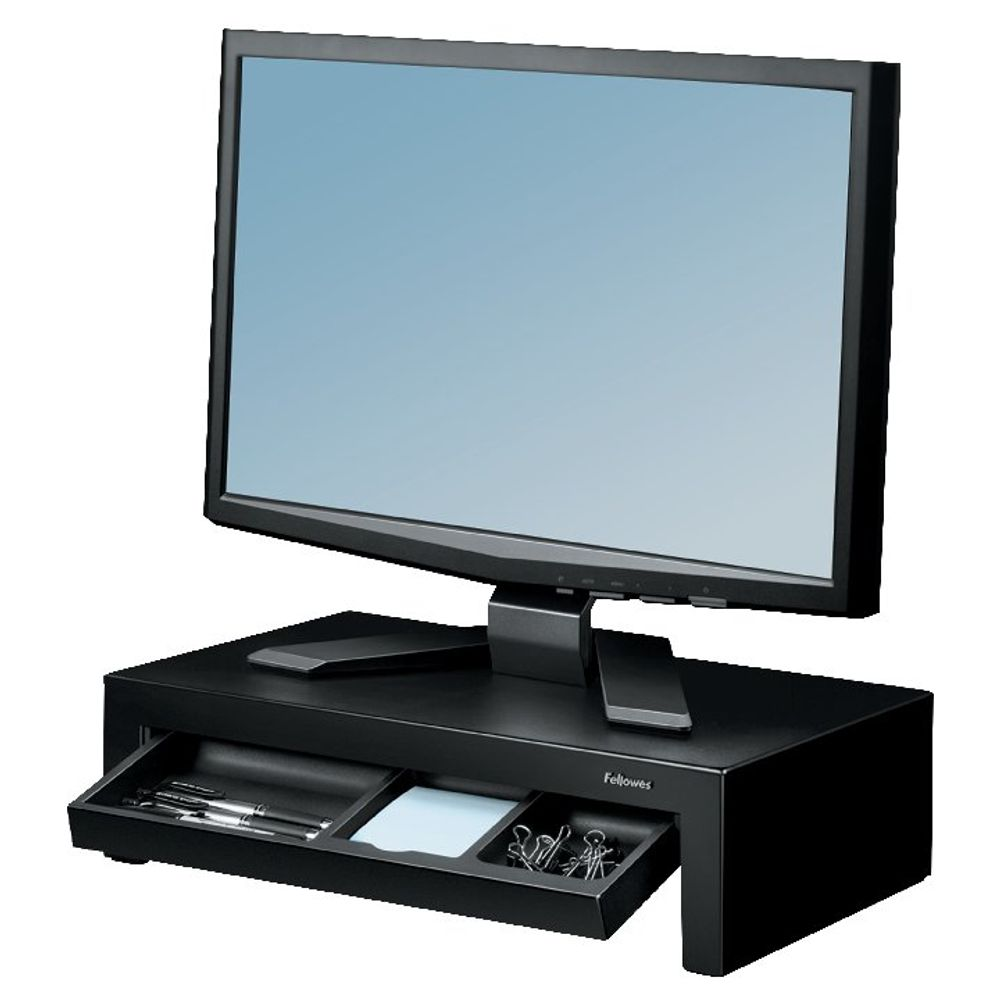 Fellowes Black Designer Suites Monitor Riser - 8038101