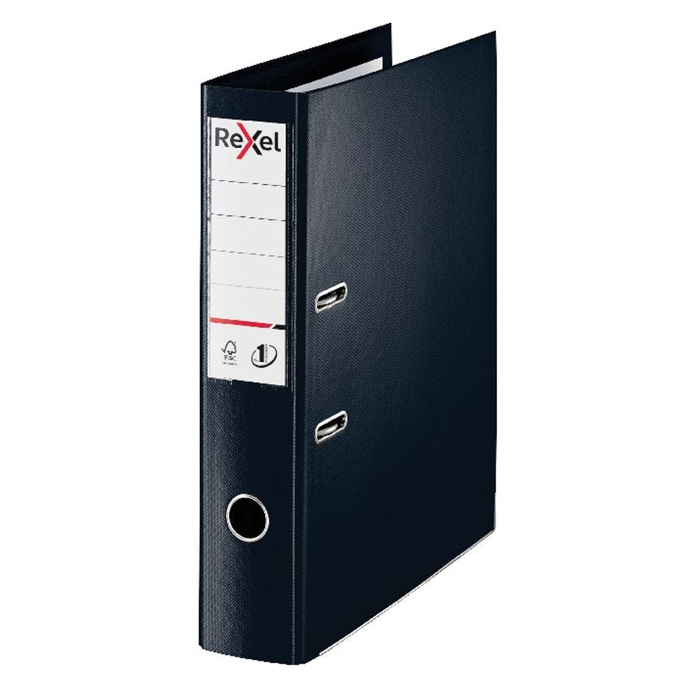Rexel Choices Black Foolscap 75mm Lever Arch File - 2115511