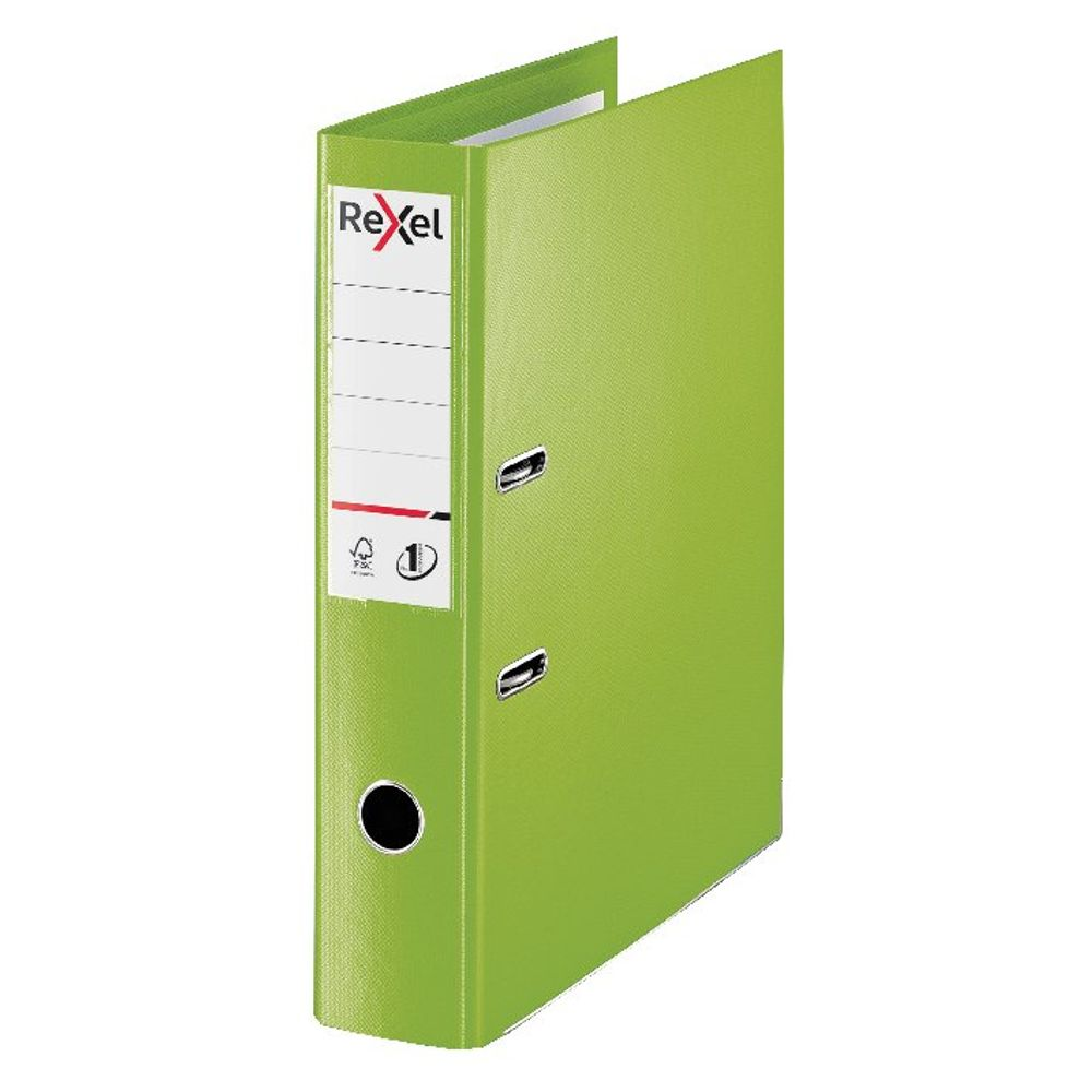Rexel Choices Green Foolscap 75mm Lever Arch File - 2115514