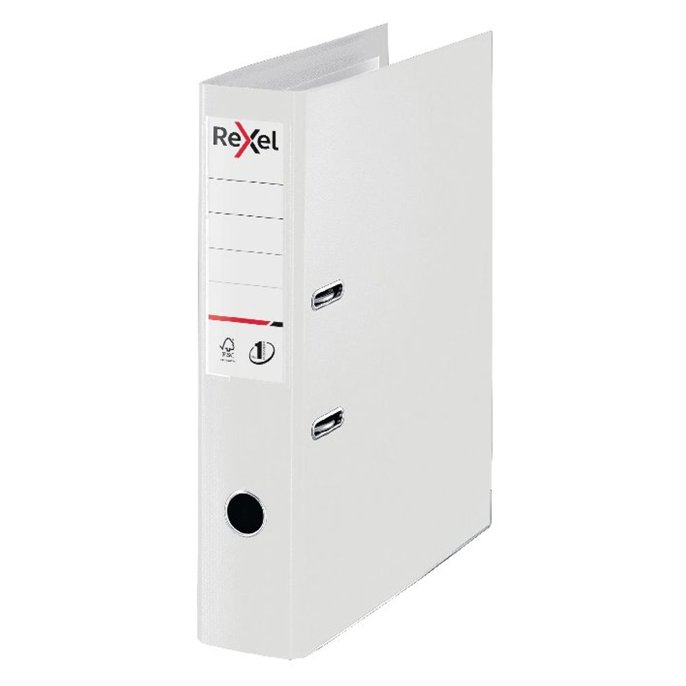 Rexel Choices White Foolscap 75mm Lever Arch File - 2115515