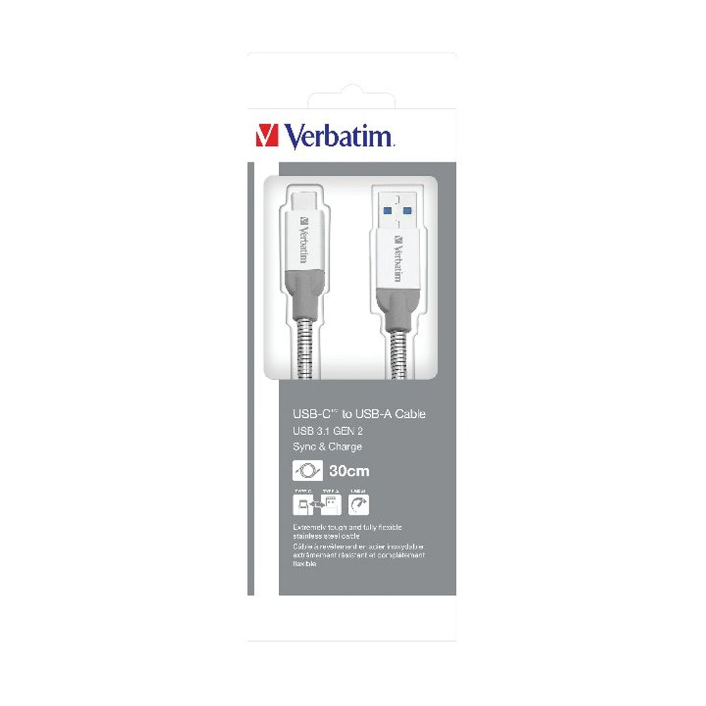 Verbatim 30cm USB-C to USB-A Charging Cable – 48868