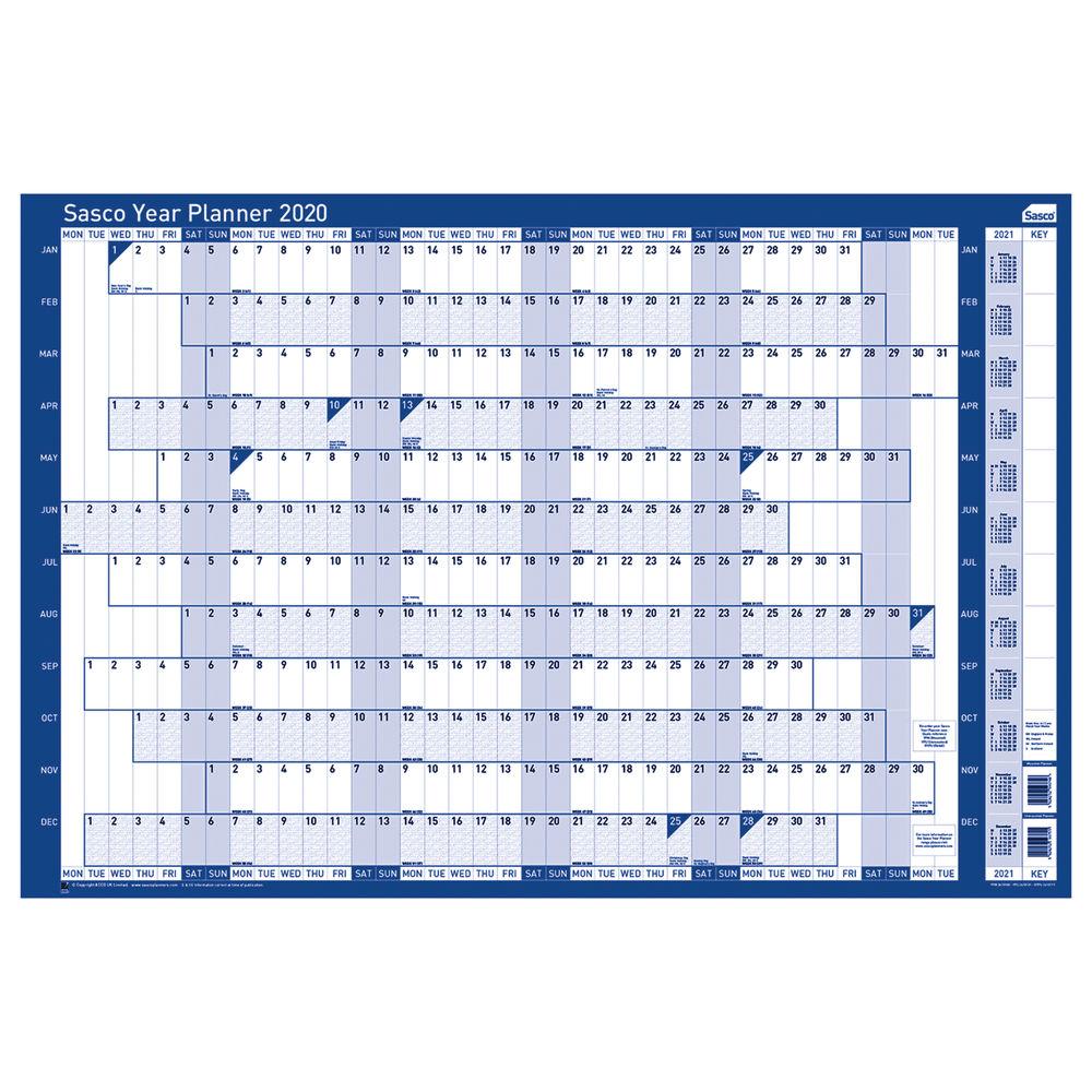 Sasco 2020 Unmounted Year Planner - 2410101