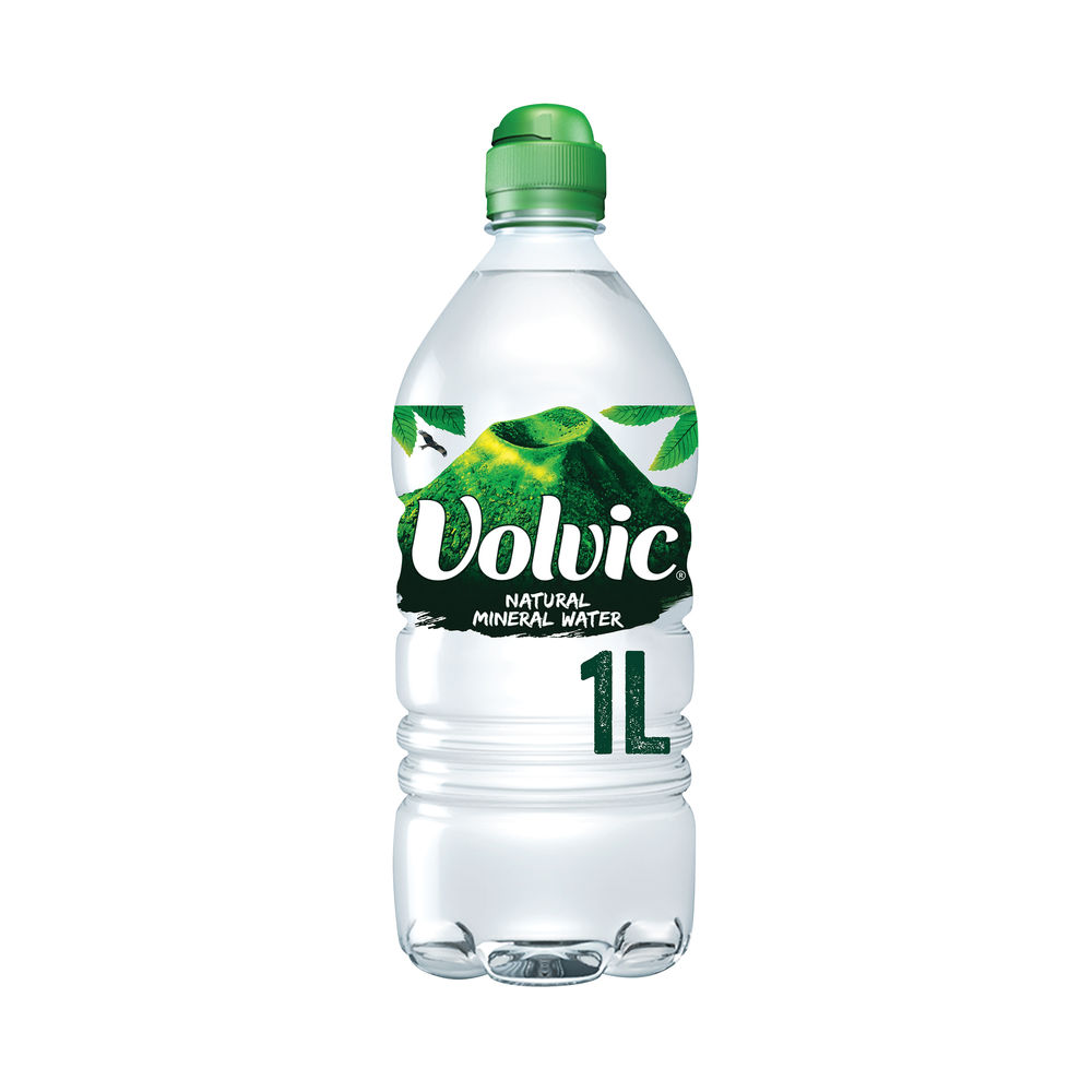 Volvic 1 Litre Natural Mineral Water Bottles (Pack of 12) - 144900