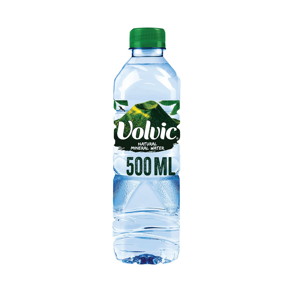 Volvic Natural Bottled Mineral Water 500ml - Pack of 24 - 11080022