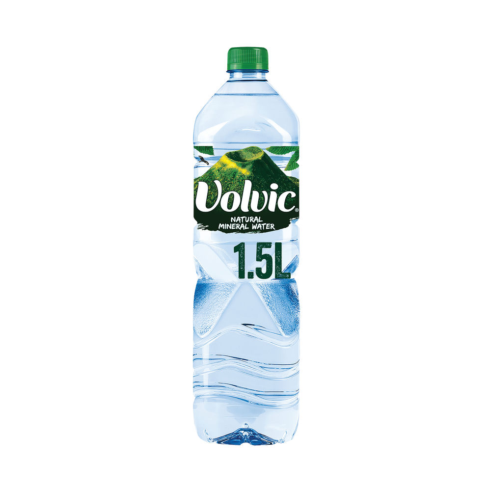 Volvic Still Natural Mineral Water 1.5l Bottles - Pack of 12 - DW11205