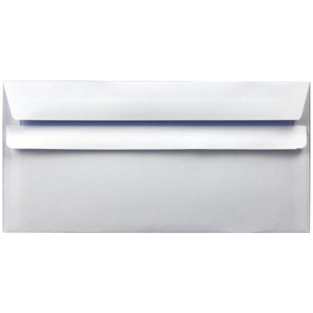 White DL Self Seal Wallet Envelopes 90gsm, Pack of 1000 - WX3480