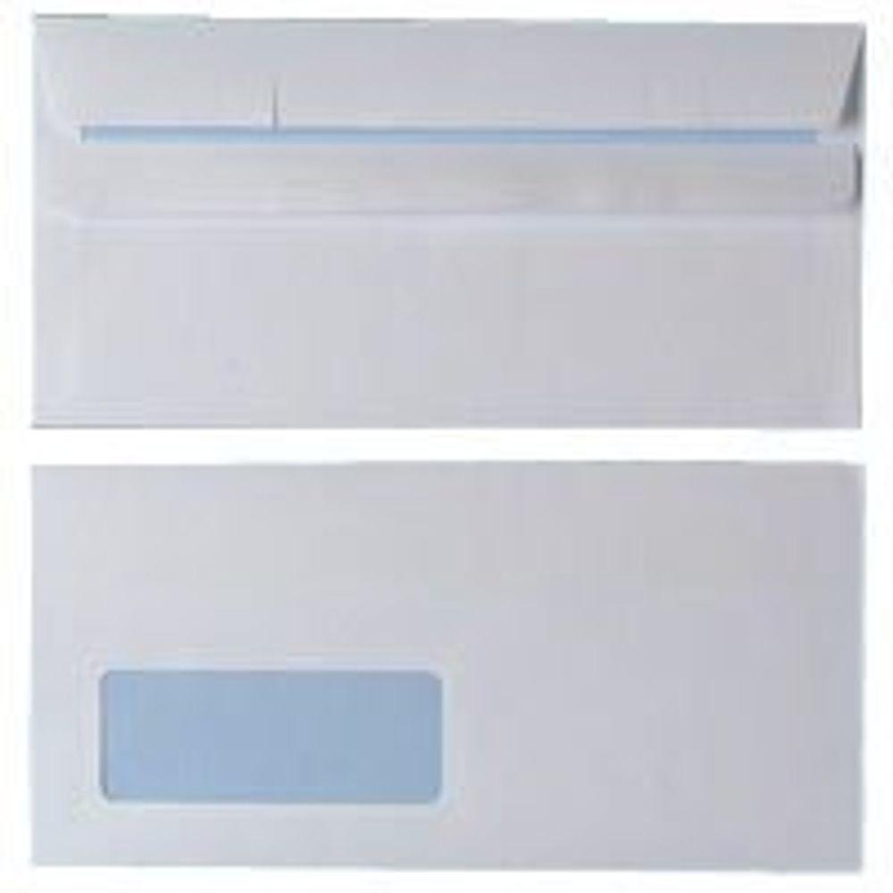 Staples White Self Seal DL Window Envelope 90gsm (Pack of 1000)