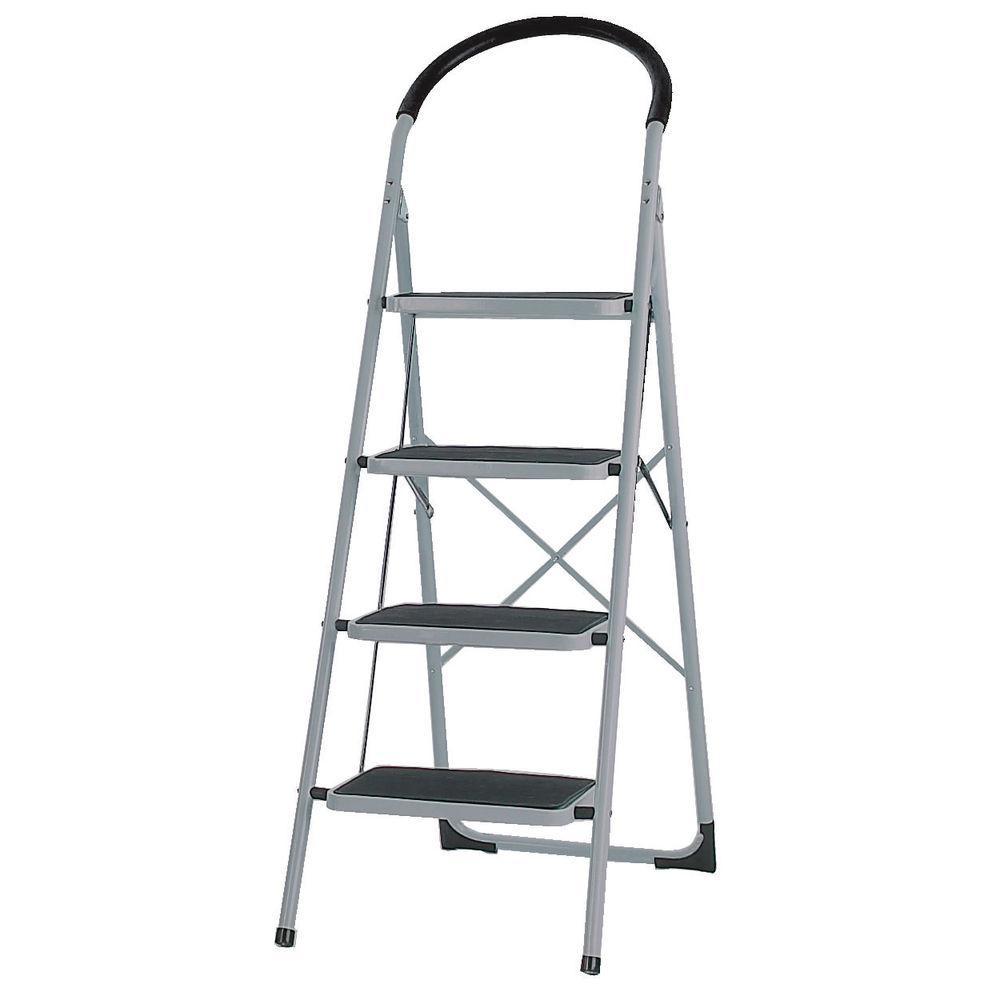 White 4 Tread Step Ladder - 359295