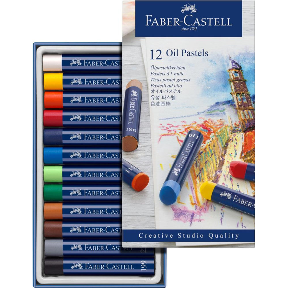 Faber-Castell Box of 12 Creative Studio Oil Pastels FC127012