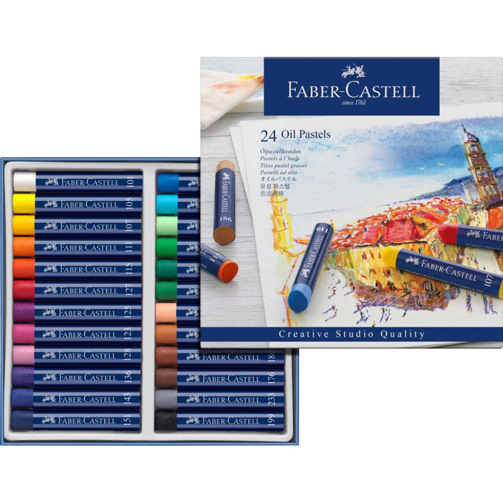 Faber-Castell Creative Studio Oil Pastels Box of 24 FC127024