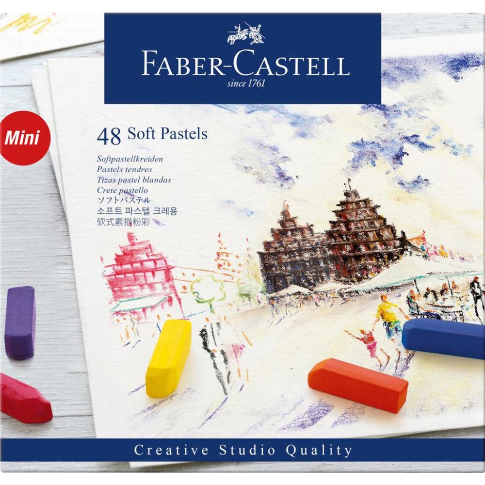 Faber-Castell Creative Studio Soft Pastels Box Of 48 FC128248