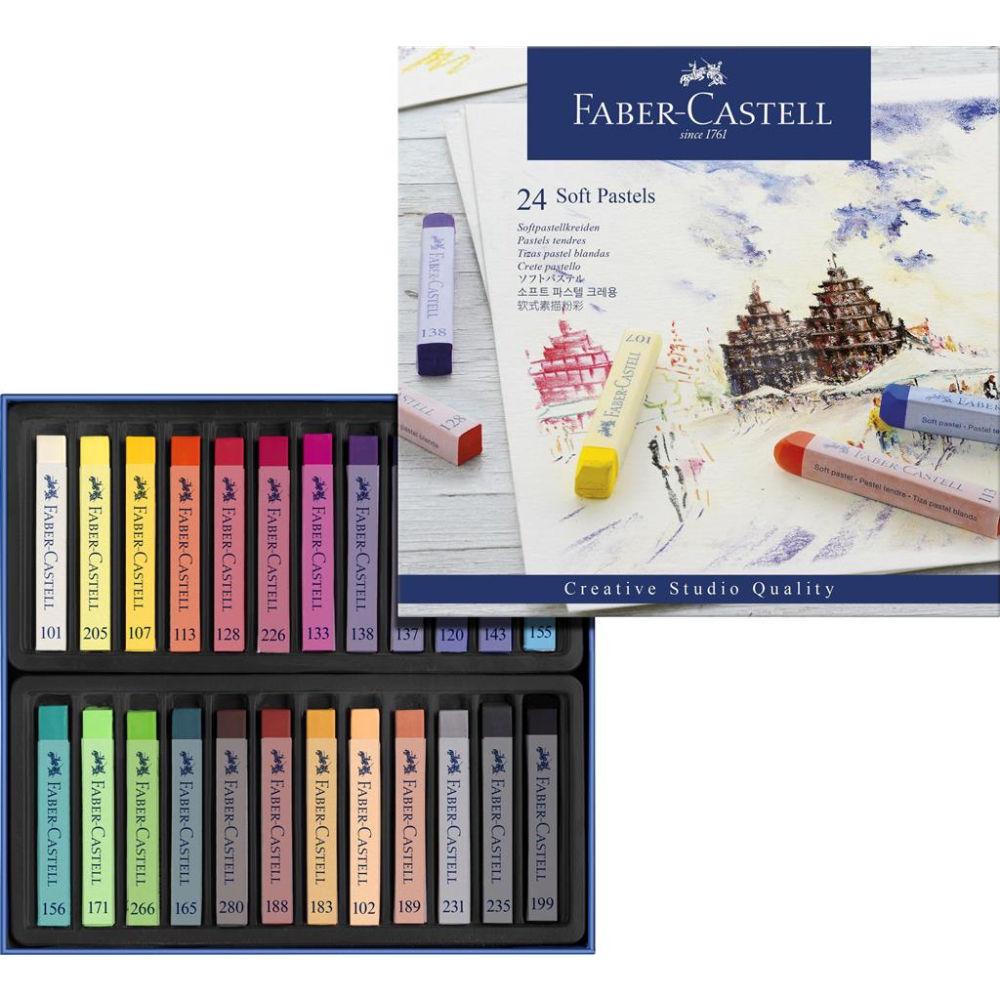 Faber-Castell Creative Studio Soft Pastels Box Of 24 FC128324