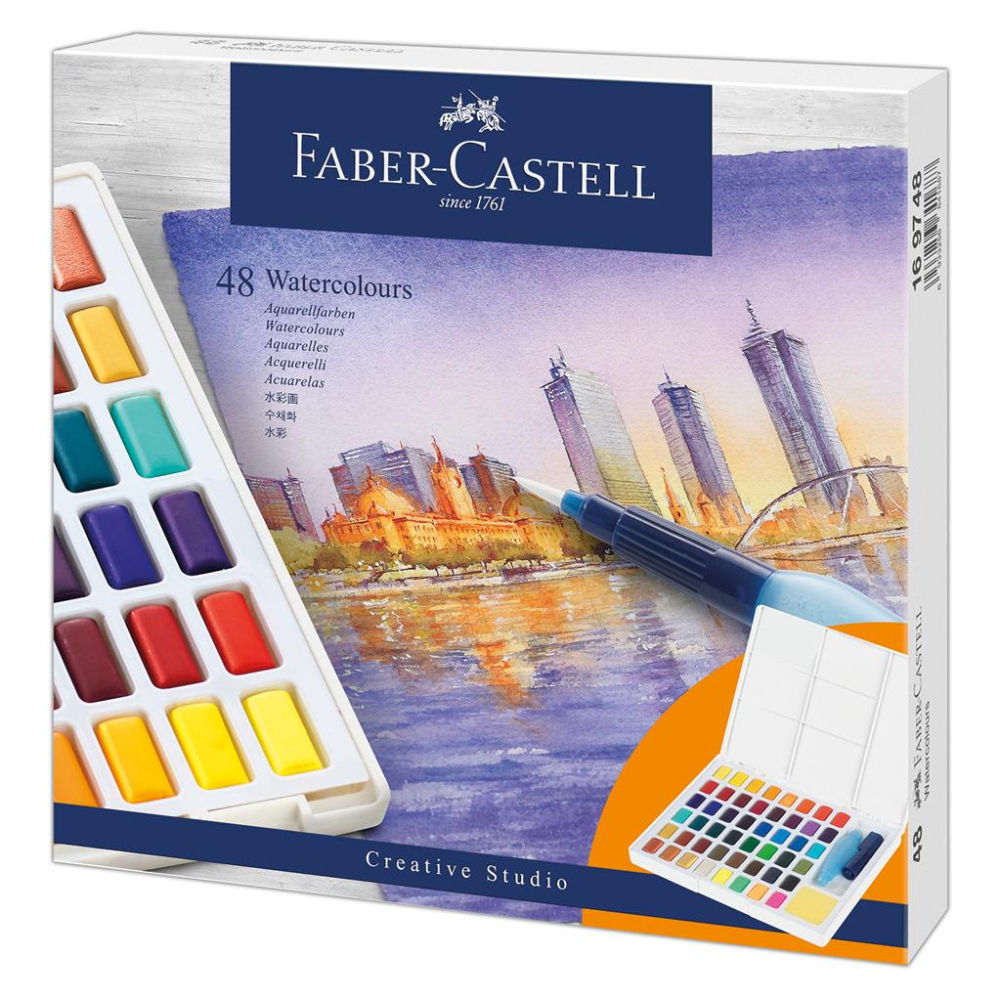 Faber-Castell Creative Studio Soft Watercolor Box of 48 FC169748