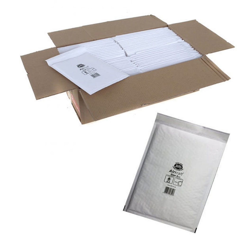 Jiffy Airkraft White Size 3 Mailers (Pack of 10) - 04891