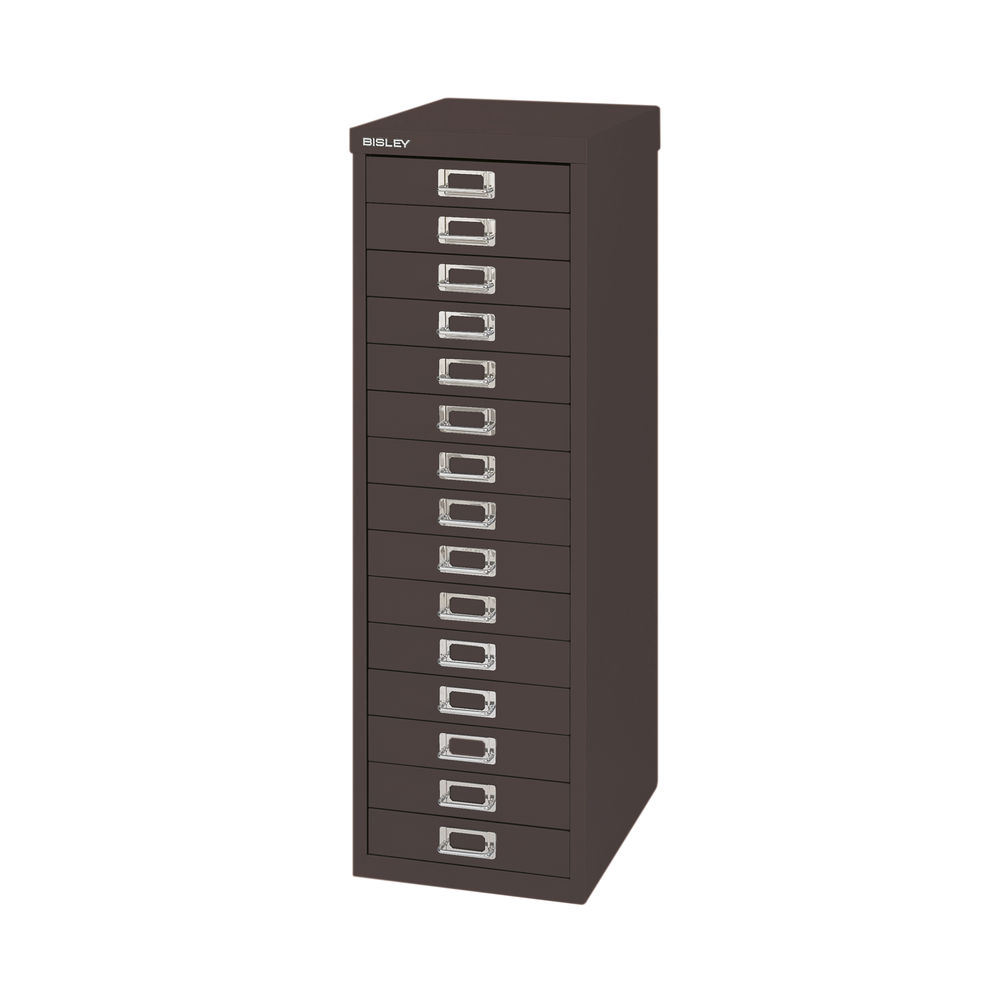 Bisley 860mm Black 15 Drawer Filing Cabinet - BY39950
