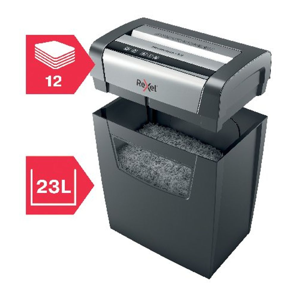 Rexel Momentum X312 Cross-Cut Paper Shredder Black 2104572