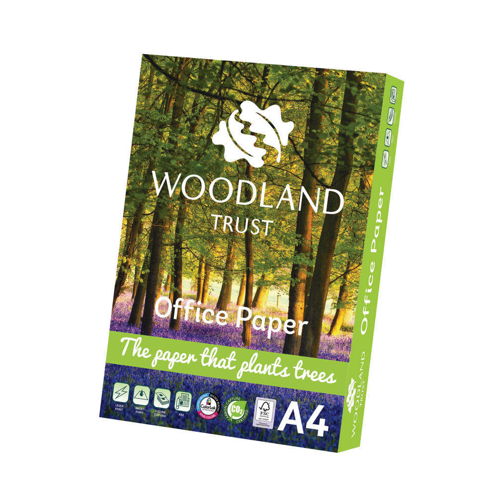 Woodland Trust A4 Office Paper 75gsm, Pack of 2500 - WTOA4