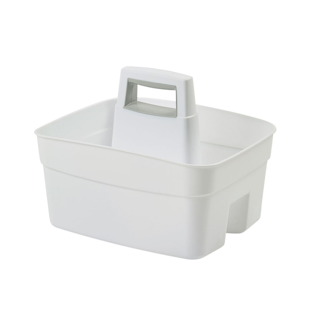 Whitefurze Craft Caddy With Handle White H33KCRY