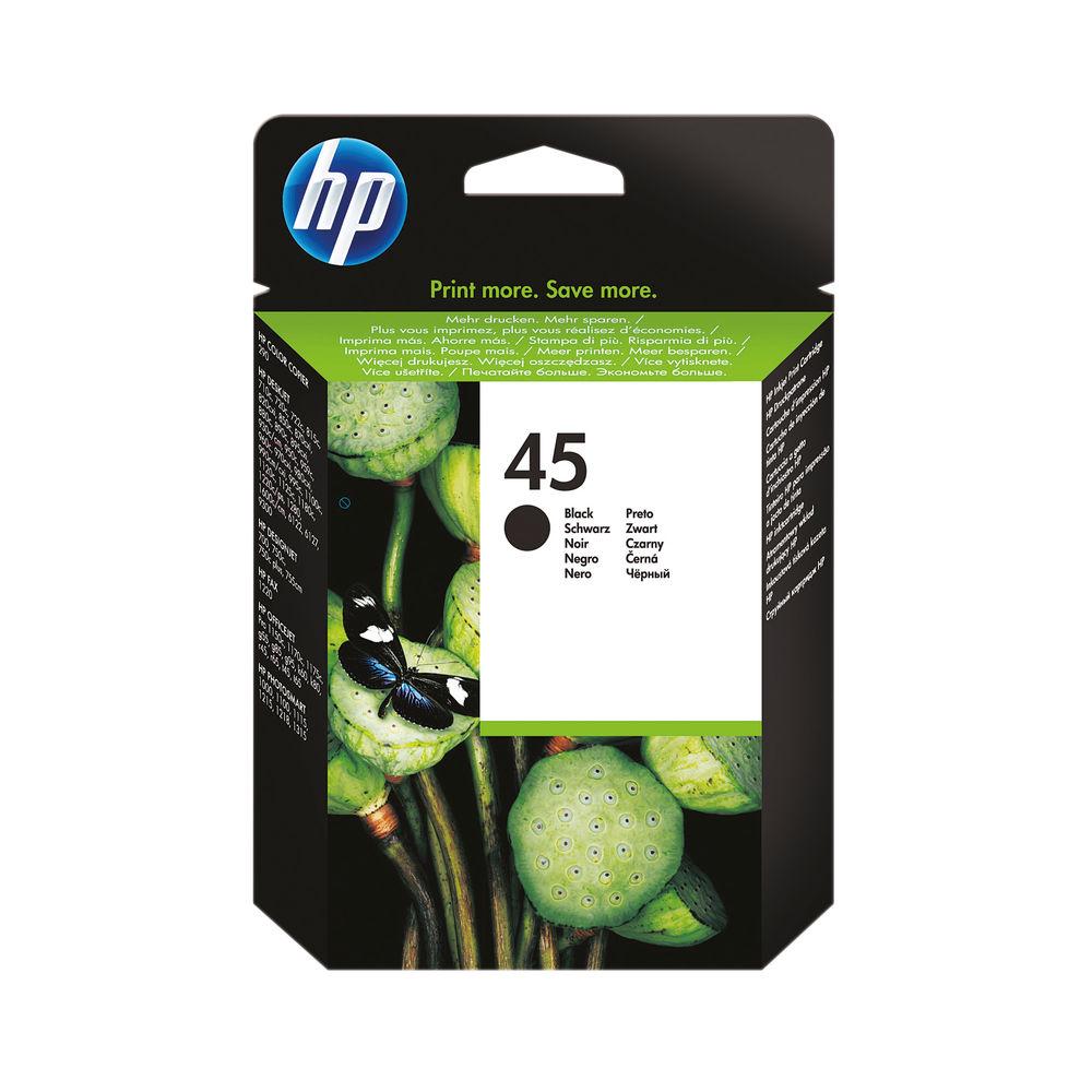 HP 45 Black Inkjet Cartridge 42ml 51645AE