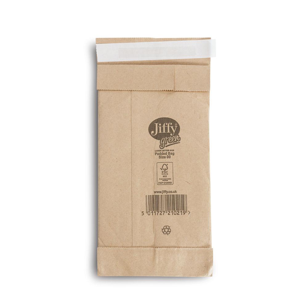 Jiffy Padded Bag Size 00 105x229mm Gold PB-00 (Pack of 200) JPB-00