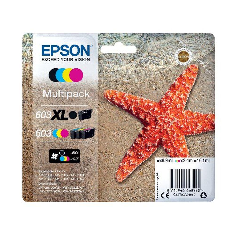 Epson Starfish 603XL Black/603 CMY Ink Multipack C13T03A94010