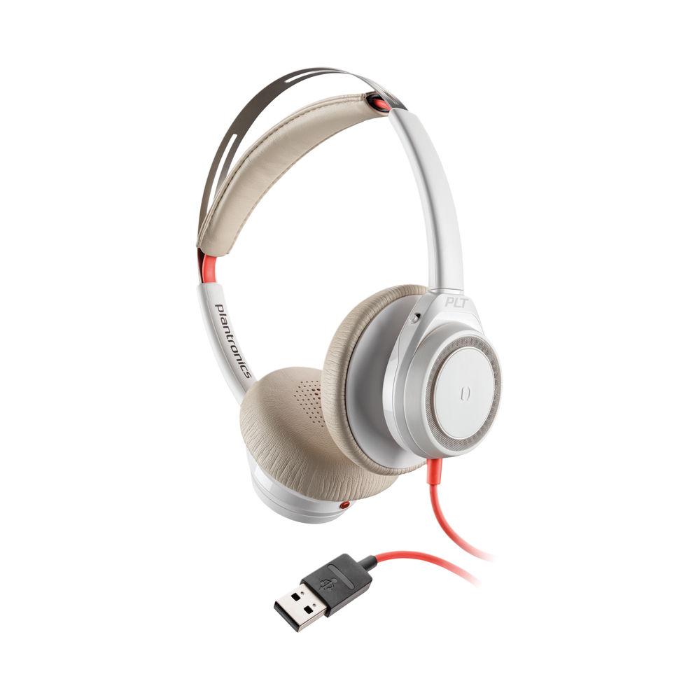 Poly Blackwire 7225 BW7225 Headset USB-A Corded White WW 211154-01