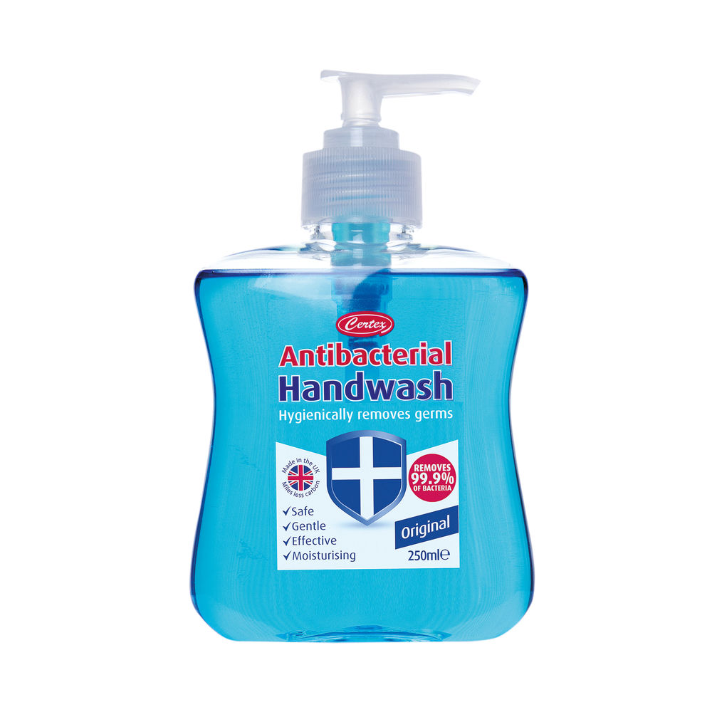Certex 250ml Antibacterial Hand Wash, Pack of 2 - KCWMAS2