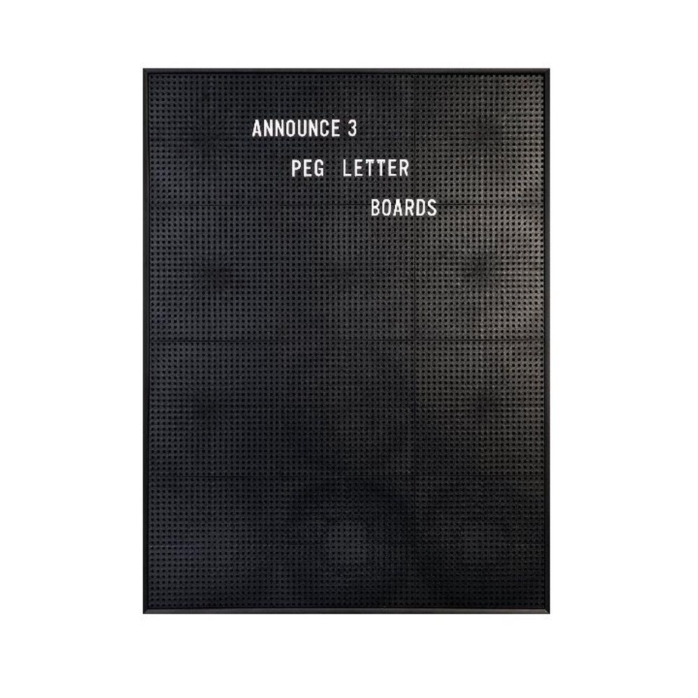 Announce 463 x 615mm Peg Letter Board - 1/ECON-3/VC/EC-KIT692