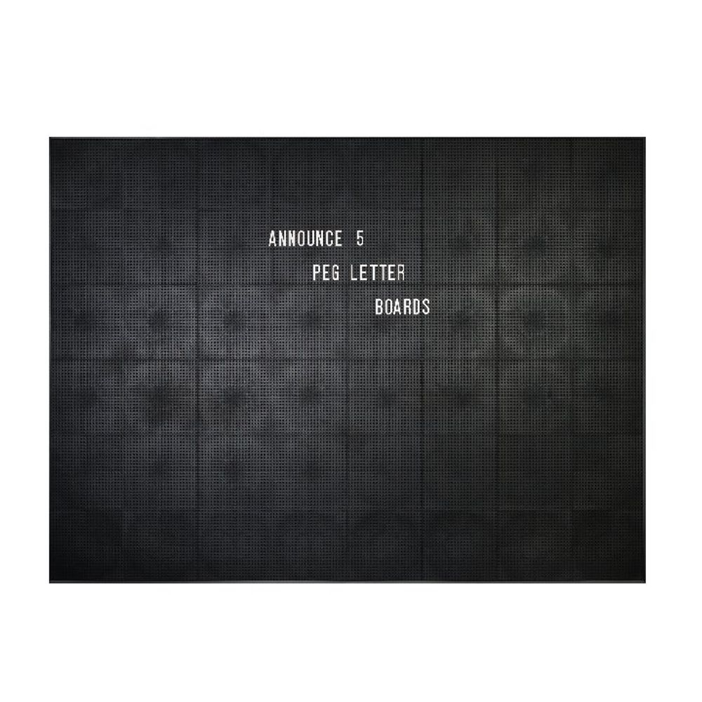 Announce 1225 x 920mm Peg Letter Board - 1/ECON-5/VC/EC-KIT692